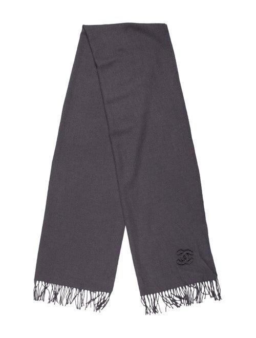 Chanel Cashmere CC Scarf Grey