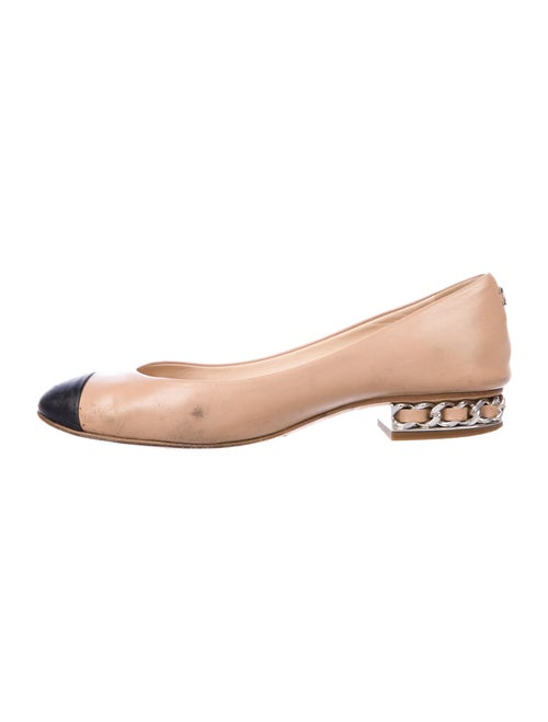 Chanel Leather Colorblock Pattern Ballet Flats