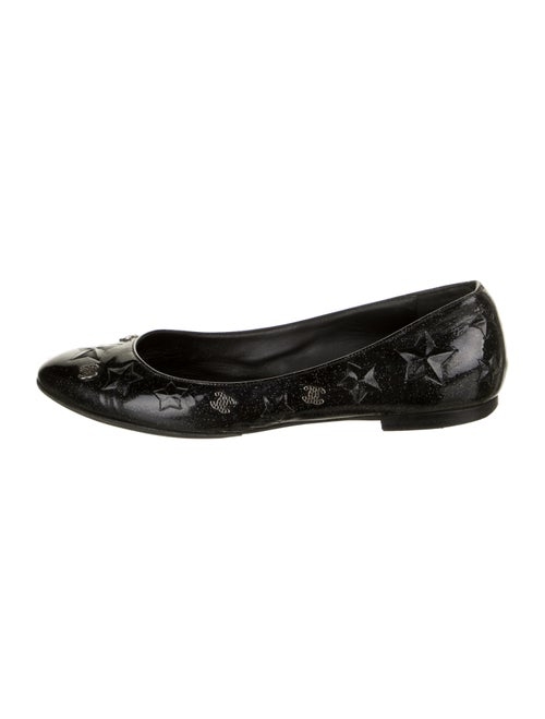 Chanel Patent Leather Flats Black