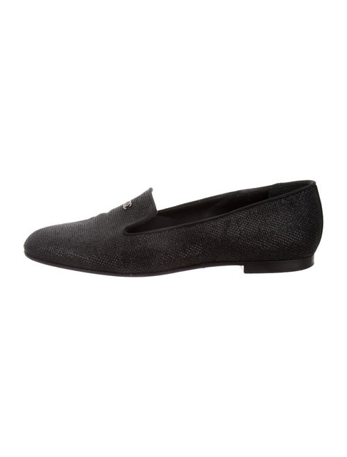 Chanel Interlocking CC Logo Loafers Black
