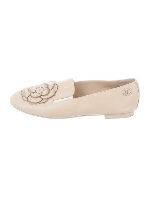 Chanel Interlocking CC Logo Leather Loafers