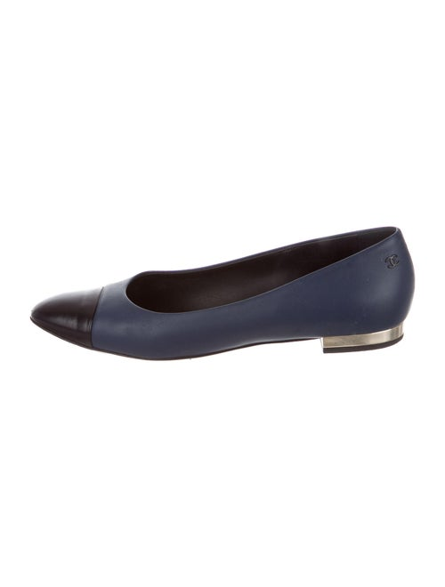 Chanel Leather Ballet Flats Blue