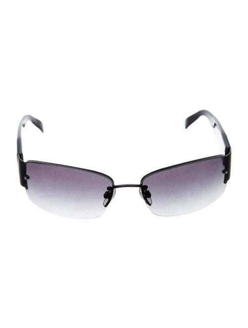 Chanel CC Embellished Sunglasses Black