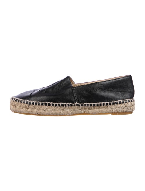 Chanel Lambskin Espadrilles Interlocking CC Logo E