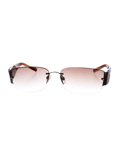 Chanel CC Strass Sunglasses Brown