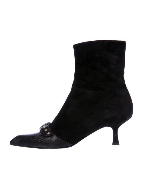 Chanel Signature Logo Karung Boots Black