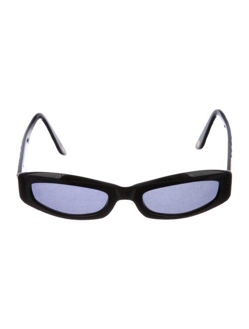 Chanel Tinted Square Sunglasses Black