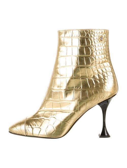 Chanel 2019 Metallic Embossed Boots Metallic