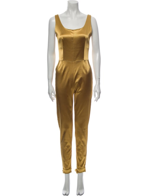 Chanel Scoop Neck Jumpsuit Gold