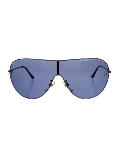 Chanel Crystal Shield Sunglasses