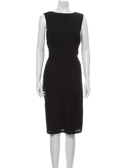 Chanel 2009 Midi Length Dress Black