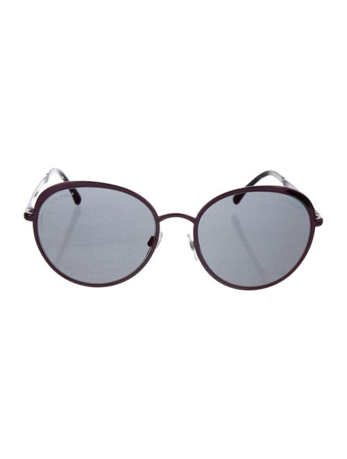 Chanel Spring Round Sunglasses Plum