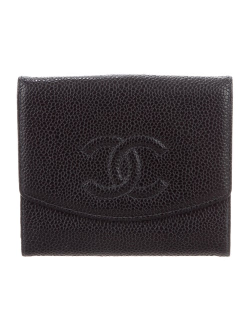 Chanel Vintage Timeless French Purse Wallet Black