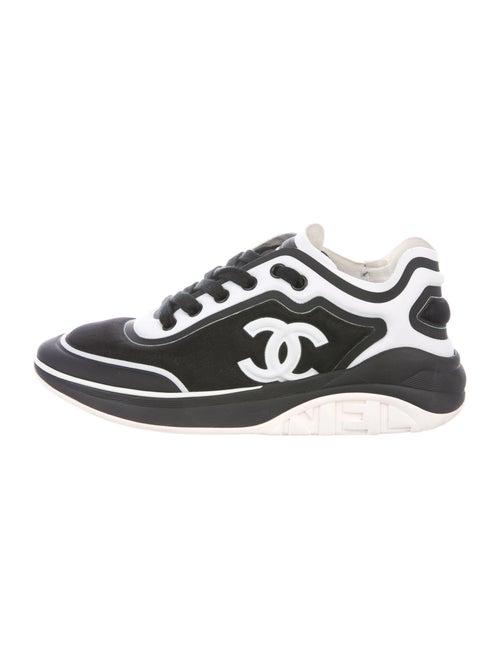 Chanel Interlocking CC Logo Sneakers Black