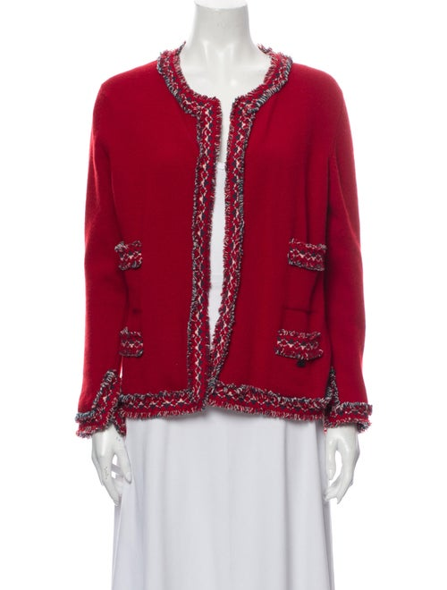 Chanel Cashmere Scoop Neck Sweater Red