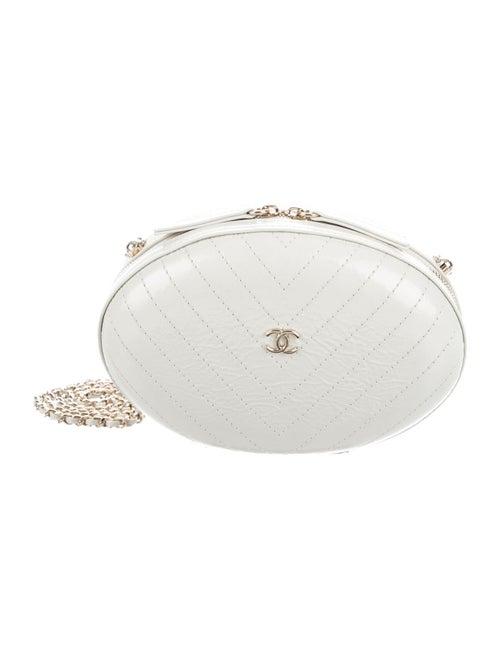 Chanel Chevron Quilt Evening Bag gold