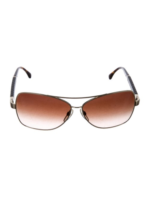 Chanel Quilted CC Sunglasses Gold