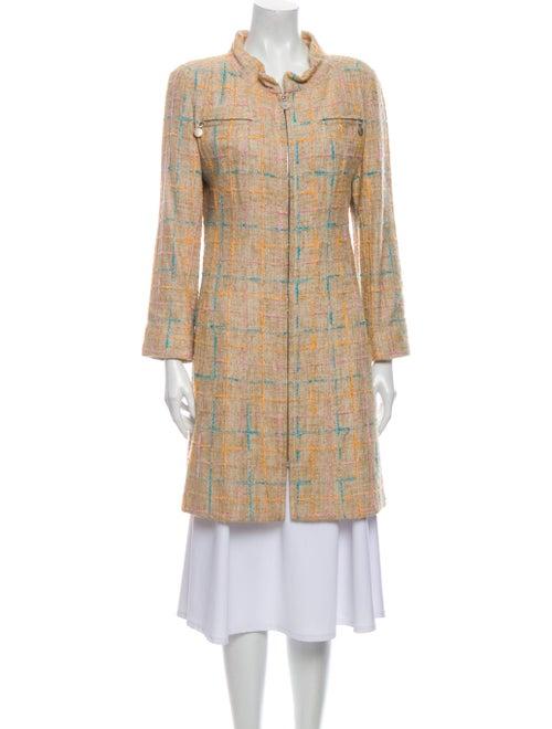 Chanel 2001 Tweed Pattern Faux Fur Coat