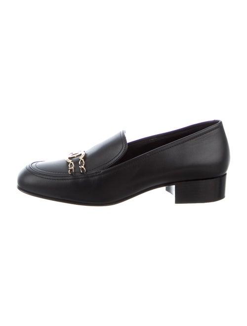 Chanel 2016 Interlocking CC Logo Loafers Black