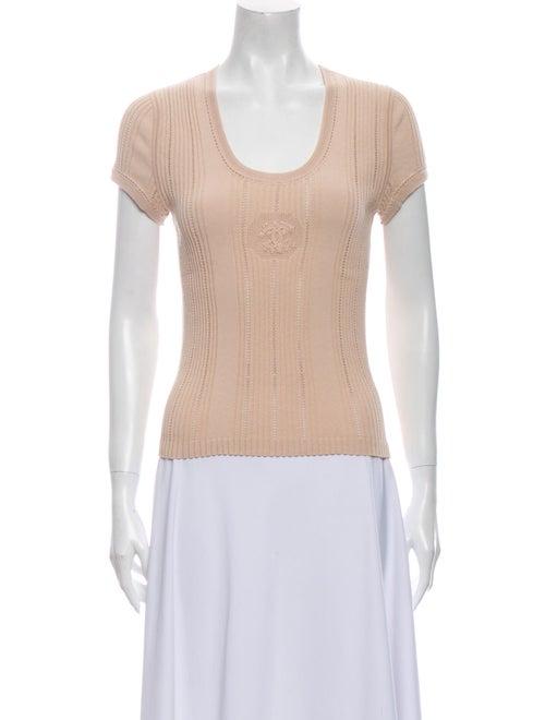 Chanel Scoop Neck Short Sleeve Top