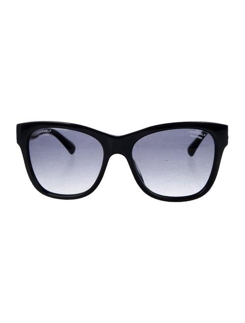 Chanel CC Wayfarer Sunglasses Black