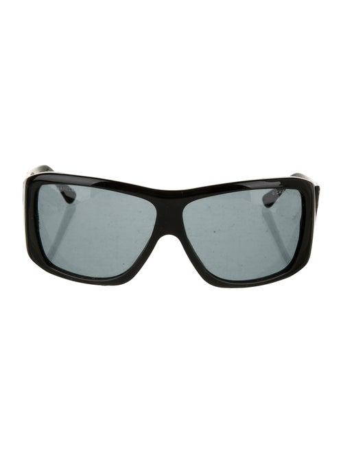 Chanel CC Square Sunglasses Black