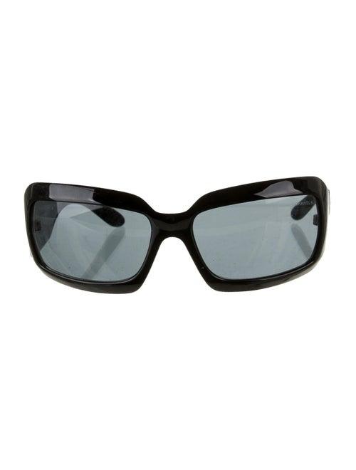 Chanel CC Shell Sunglasses Black
