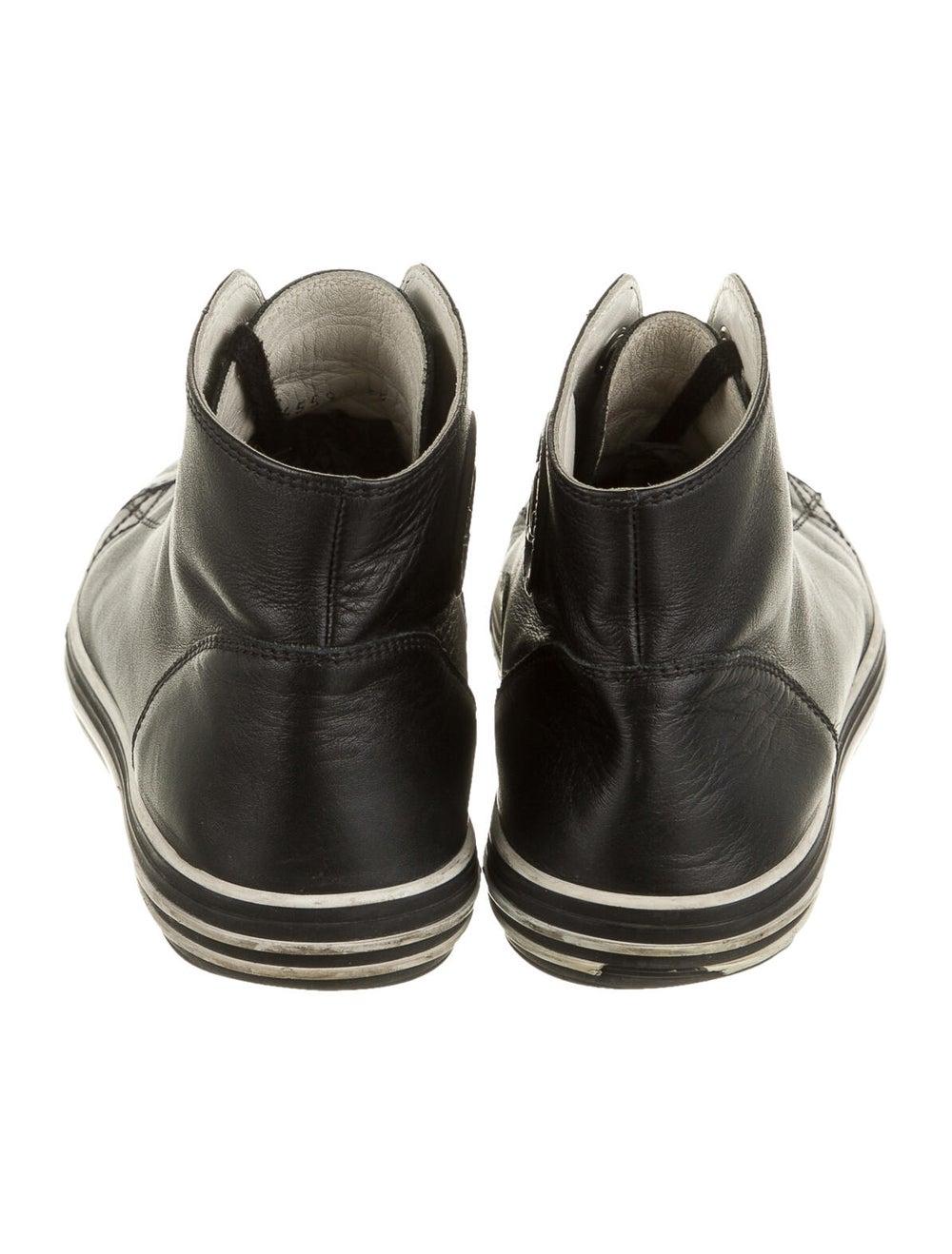Chanel Interlocking CC Logo Leather Sneakers Black - image 4