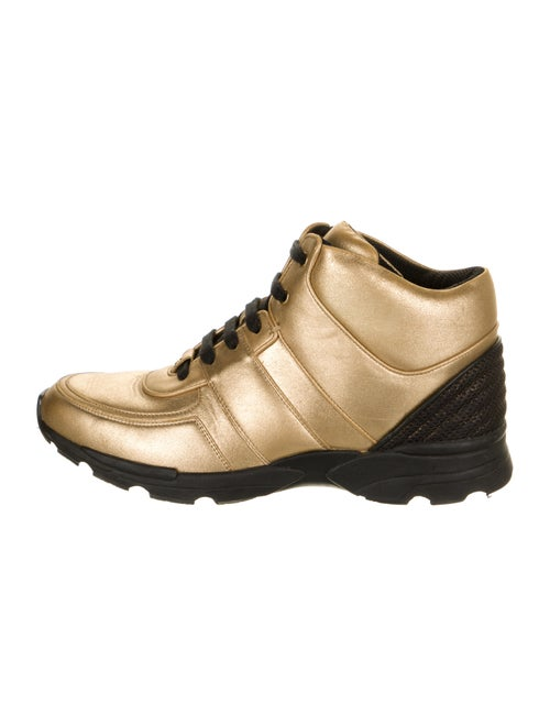 Chanel Metallic High-Top Sneakers Metallic
