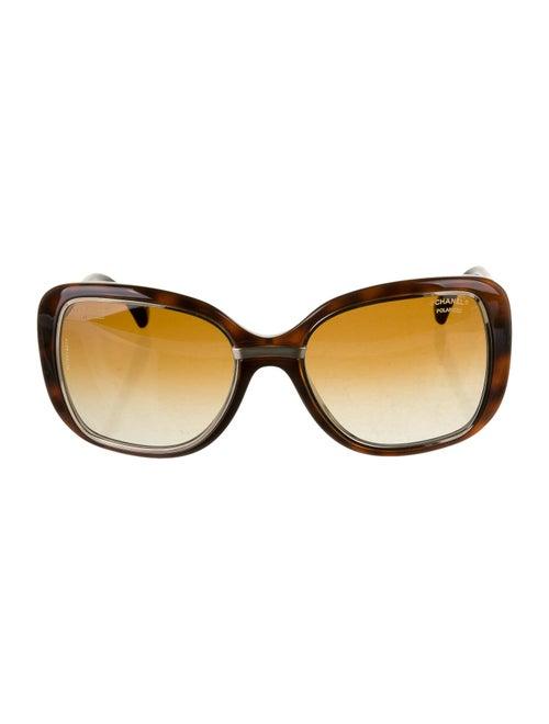 Chanel Polarized Square Sunglasses Brown