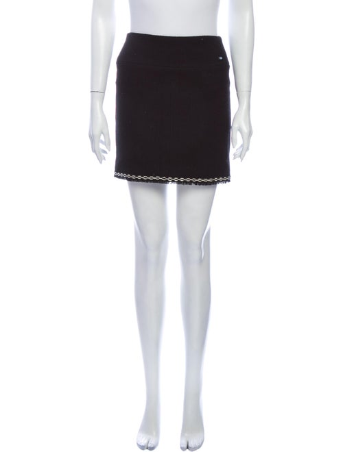 Chanel 2004 Mini Skirt Wool