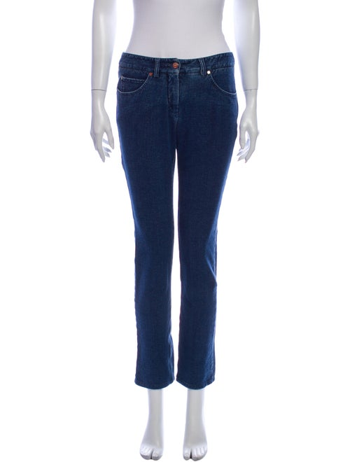 Chanel 2007 Straight Leg Jeans Blue
