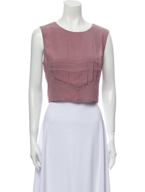 Chanel 2002 Pleated Crop Top Pink