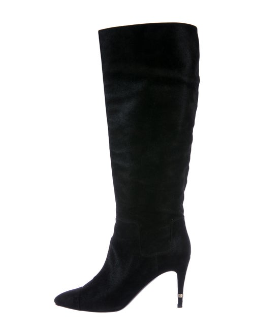 Chanel Suede Boots Black