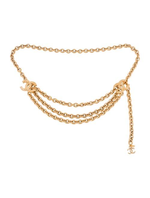 Chanel Vintage CC Chain-Link Belt Gold