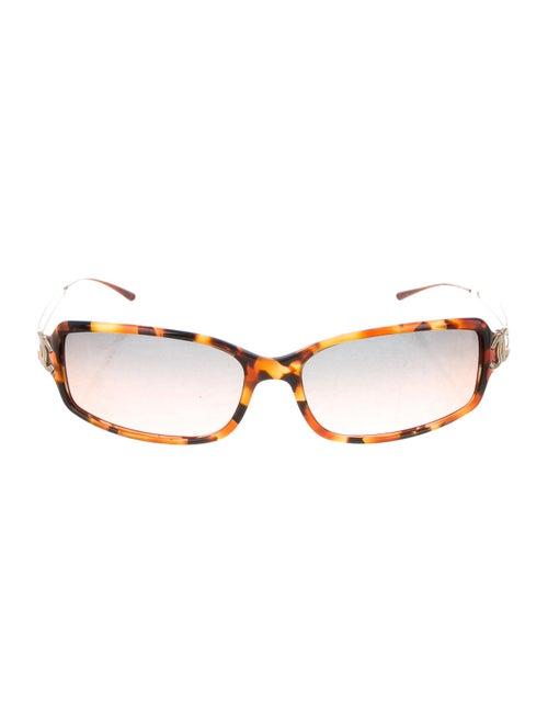 Chanel Rectangle CC Sunglasses Brown