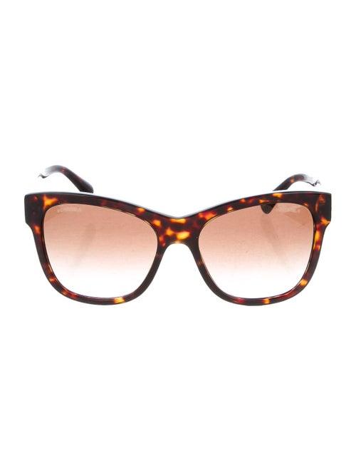 Chanel CC Wayfarer Sunglasses gold