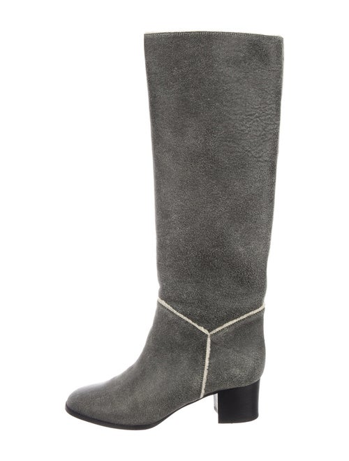 Chanel 2012 Leather Boots Grey