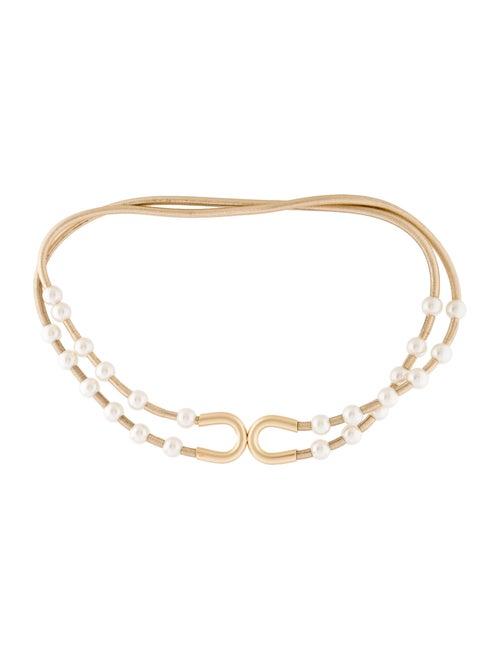 Chanel Metallic Pearl Belt Metallic