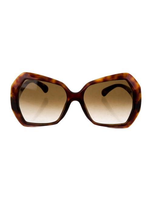 Chanel Square Spring Sunglasses Brown