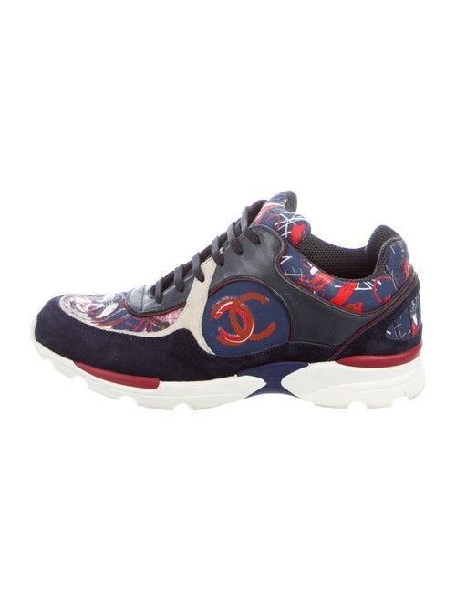 Chanel Interlocking CC Logo Sneakers Blue