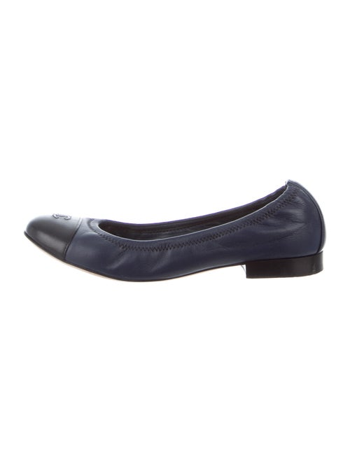 Chanel Leather Ballet Flats Black