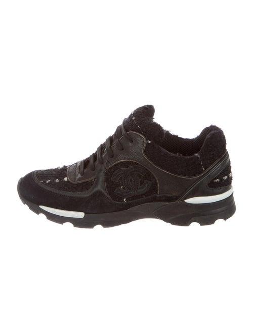 Chanel CC Tweed Sneakers Sneakers Black