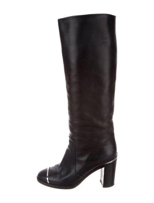 Chanel Interlocking CC Logo Leather Riding Boots B