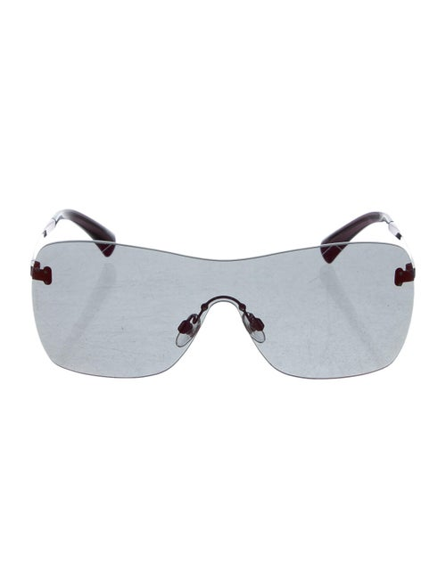 Chanel Shield Quilting Sunglasses Purple