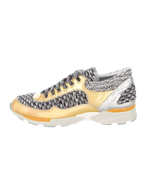 Chanel Printed Sneakers Gold