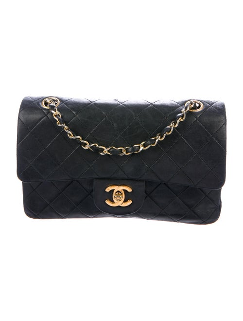 Chanel Vintage Classic Small Double Flap Bag Black