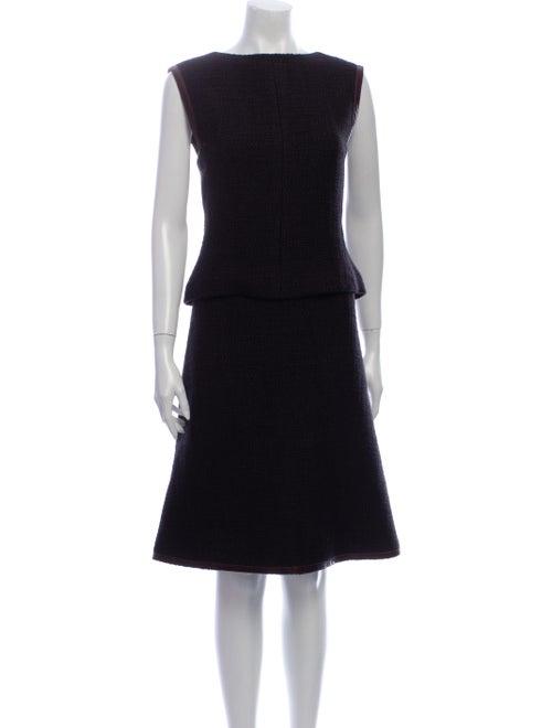 Chanel 2000 Wool Skirt Suit Wool