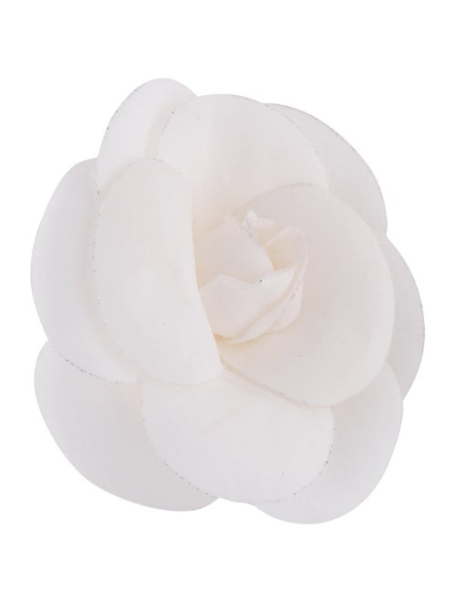Chanel Fabric Camellia Brooch Gold