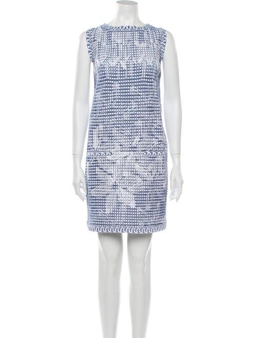 Chanel 2014 Mini Dress Blue